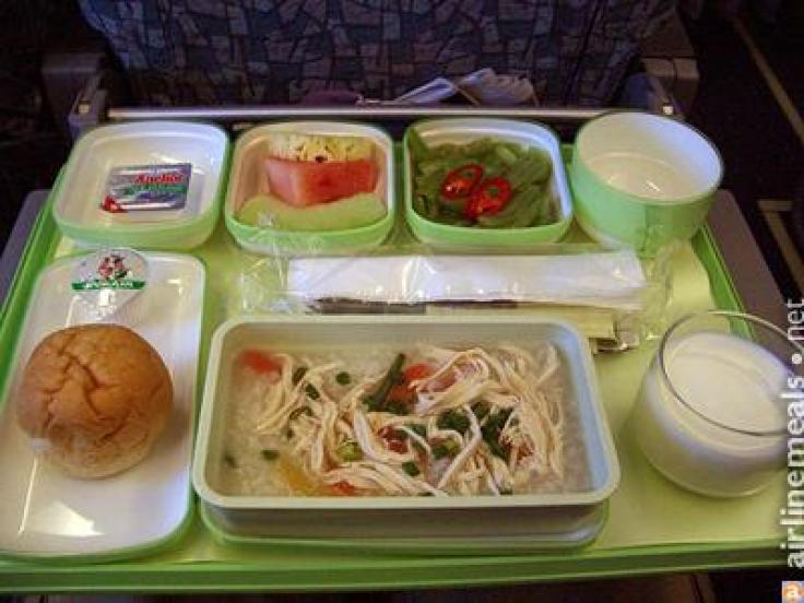 Eva Air Economy Food Menu