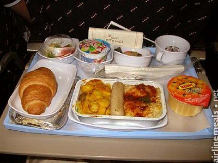 Etihad Airways Food Menu Economy